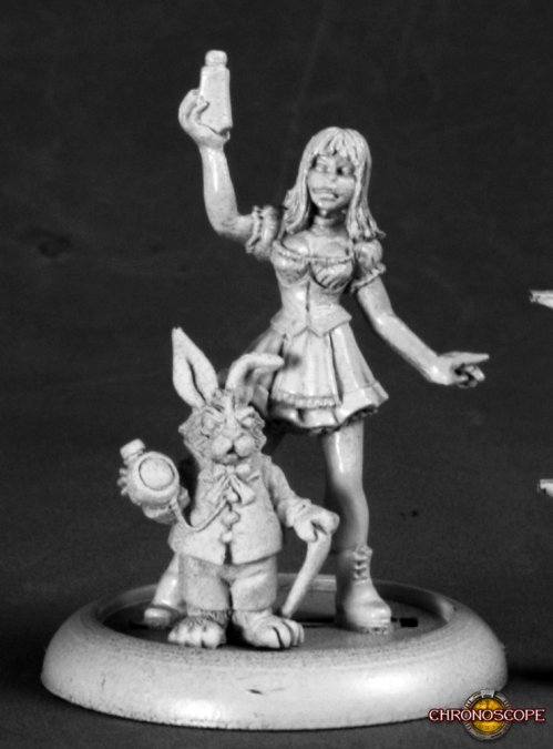 Reaper Miniatures Alice and White Rabbit 50209 (metal)