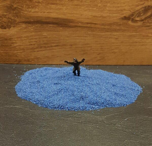 Scenery en Zo donker blauw zand