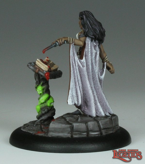 Necromancer with Tome 03138 (metal)