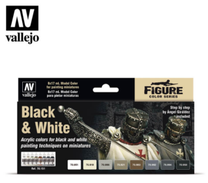 Vallejo 70.151 Black and White Paint set