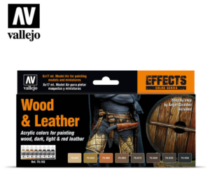 Vallejo Wood & Leather set 70.182