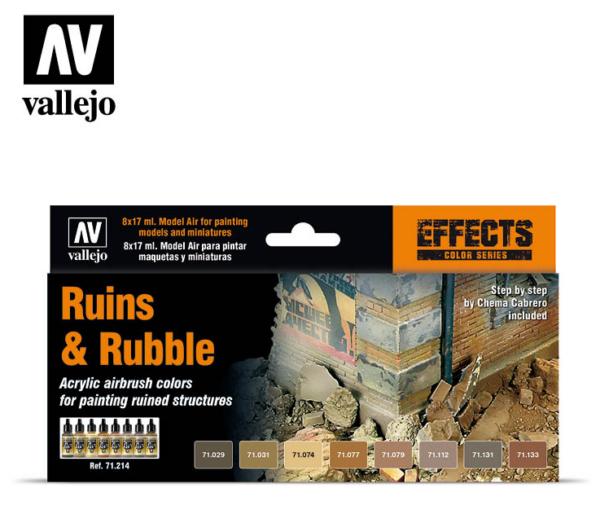 Vallejo Ruins & Rubble set 71.214