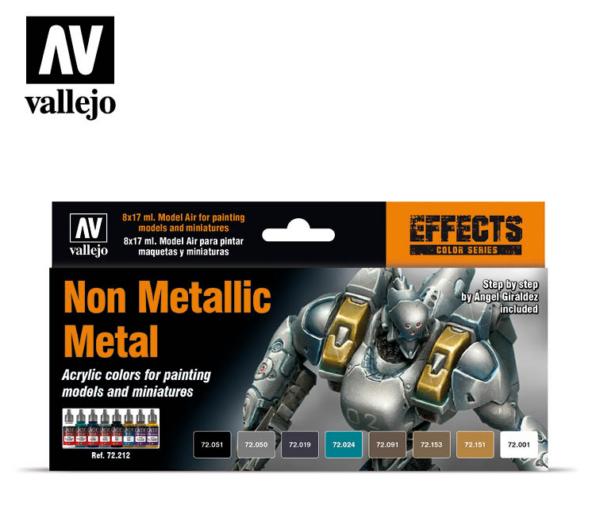 Vallejo Non Metallic Metal Set (8) 72.212
