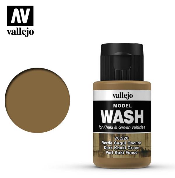Vallejo Dark Khaki Green Model Wash 76.520