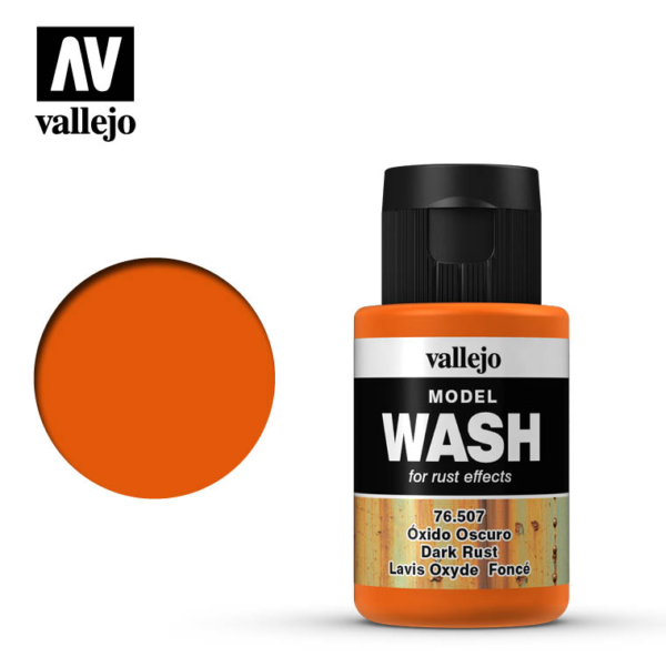 Vallejo Dark Rust Model Wash 76.507