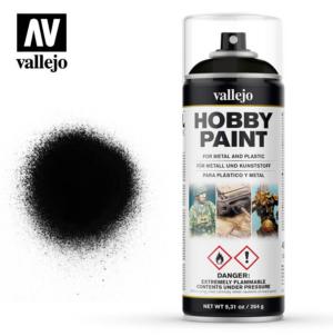 Vallejo Hobby Paint Spray Black 28.012