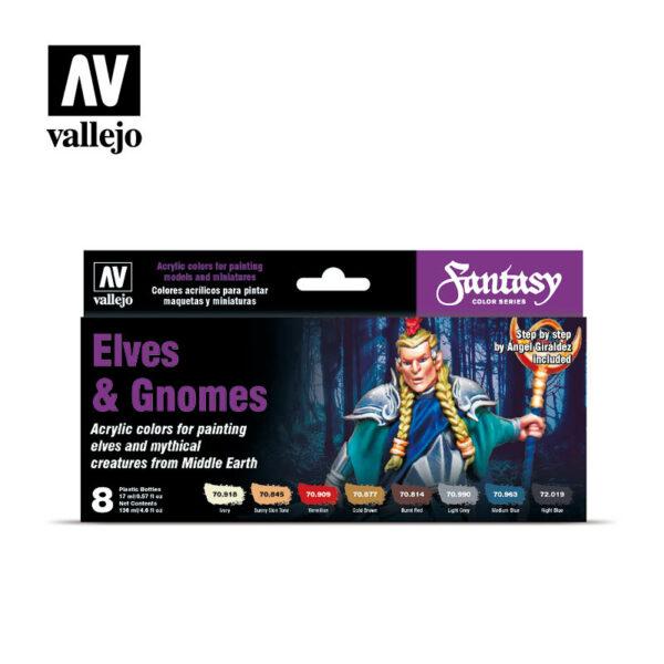 Vallejo Fantasy Elves & Gnomes Set (8) VAL-70.242