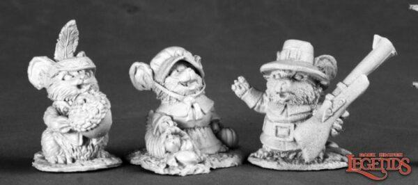 Reaper Miniatures Thanksgiving Mouslings (3) (Metal) 03536
