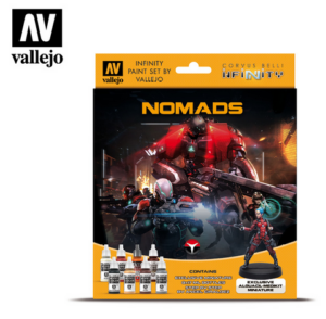 Vallejo Infinity Nomads Paint Set Incl. Figuur 70.233