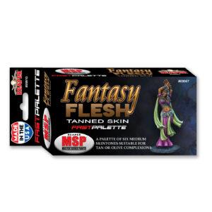 Reaper Fast Palette: Fantasy Flesh - Tanned Skin (Medium Skintones) 09907