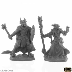 reaper Miniatures Dragonfolk Wizard and Cleric 44144